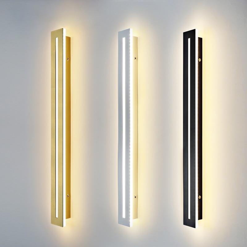 ديكور داخلي LED خط الجدار الإضاءة الحد الأدنى الإبداعية طويلة الجدار مصباح الحديثة LED خلفية الشمعدان للفندق السرير غرف معيشة
