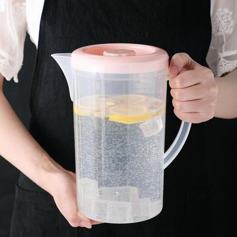 Otherhouse 2000ml plástico suco garrafa de água jarro drinkware grande capacidade garrafas pote resistente ao calor jarro de água doméstico