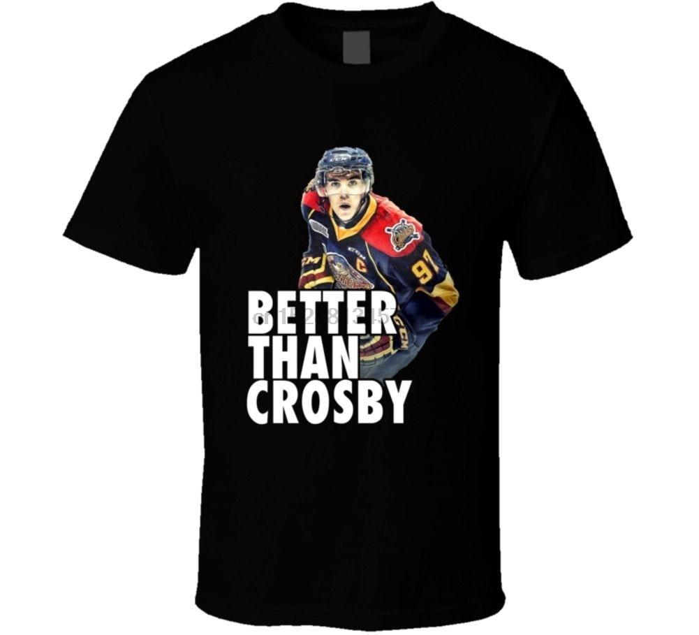 Camiseta de jugador de hockey con diseño de Crosby Mcdavid, camiseta informal para hombre