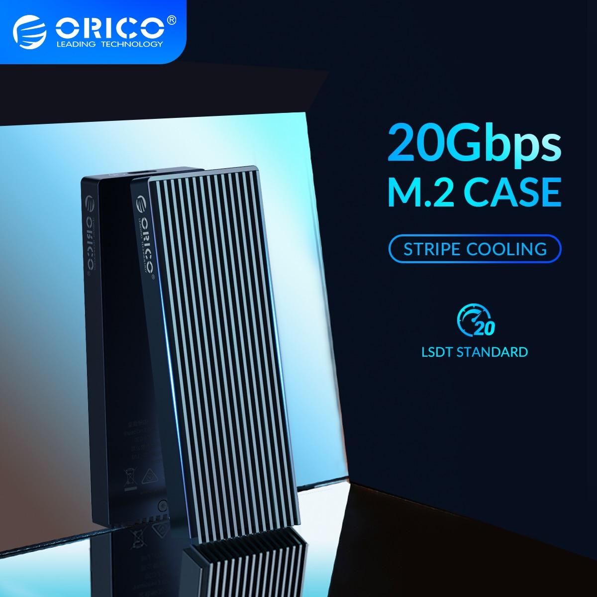 ORICO LSDT M.2 NVME SSD حالة 20 3gbps الألومنيوم M.2 NVME SSD الضميمة USB3.2 GEN2 x2 نوع-C ل M.2 القرص الصلب تصل إلى 2 تيرا بايت C إلى C