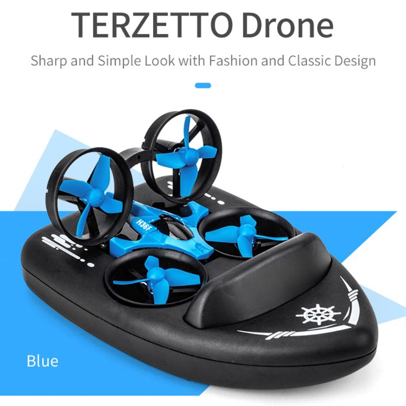 Hot 3-in-1 EPP Fly RC Boat RC Helicopter Land Driving Mode Detachable One Key Return Remote Control