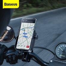 Soporte de teléfono para motocicleta Baseus, soporte para bicicleta, soporte para teléfono móvil para iPhone, Samsung, soporte para Moto, motocicleta, soporte para teléfono móvil