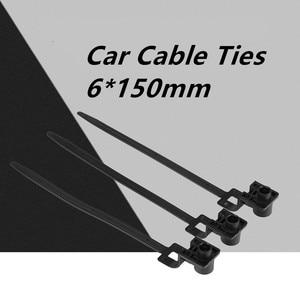 50 Pcs Nylon Black Car Auto Cable Strap Push Mount Wire Tie Retainer Clip Clamp cable ties