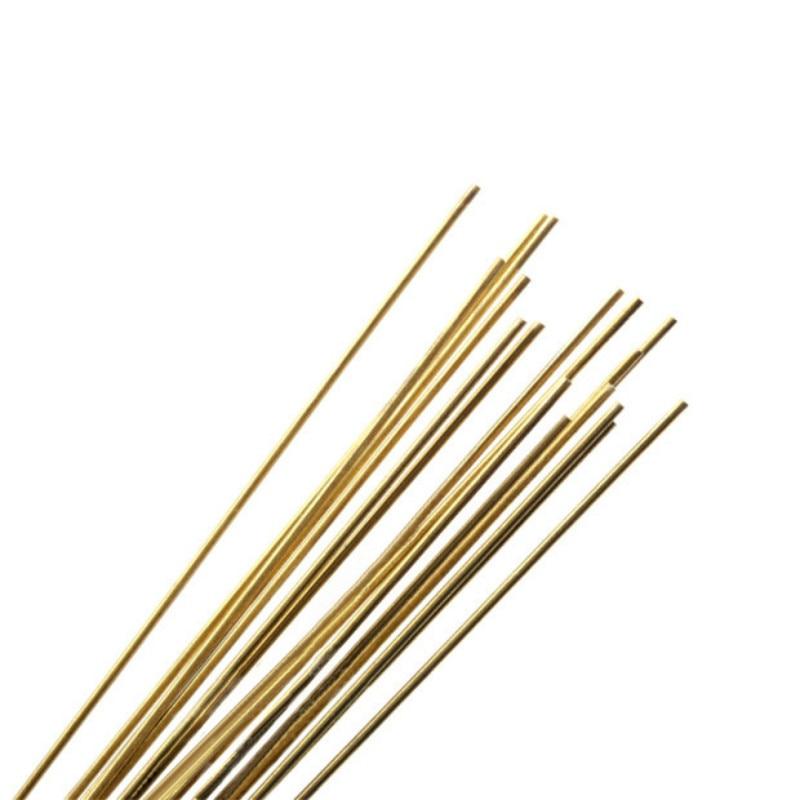 5 pçs modelo militar material que faz a ferramenta de renovação haste de metal haste de suporte haste de bronze barra redonda multi-especificação