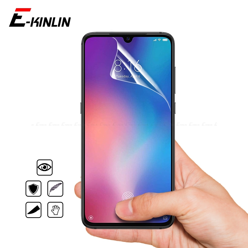 HD Soft Display Nano Explosion Proof Screen Protector Protective Film For Xiaomi Mi 10T 9T 9 Pro 8 SE A3 A1 A2 Lite Pocophone F1