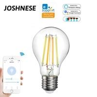 Ampoule intelligente WiFi 7 5W E27  lampe a Filament  variable 2700-6500K  eWeLink APP telecommande avec Alexa Google Home IFTTT
