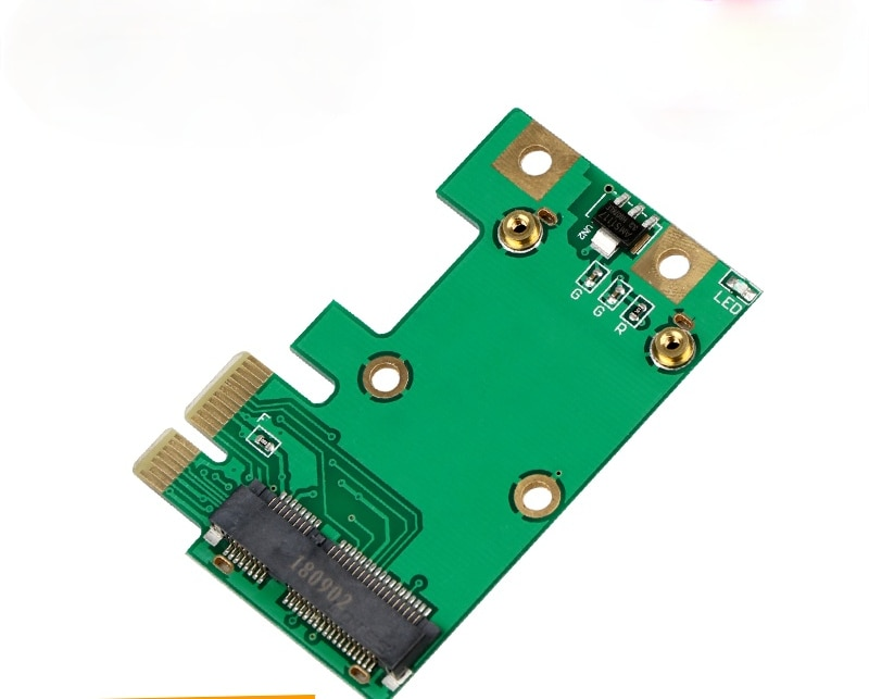 1Pcs PCIE to mini PCIE adapter card PCI-E to MINI PCI-E wireless network card expansion card copper core