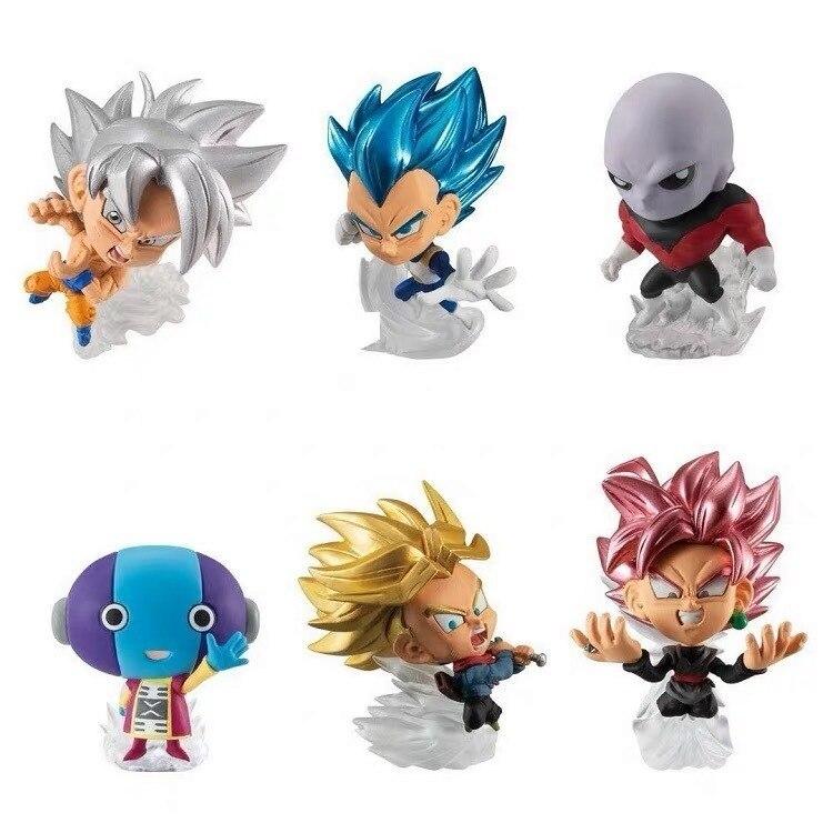 Bandai-figura Original de Dragon ball, super figuras de guerreros JirenTrunks zenhoo, figura de Vegeta de Rose Goku