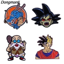 P4713 Dongmanli Anime Goku Figures Cool créatif broche en métal émail broches Badge sac à dos sac collier revers bijoux