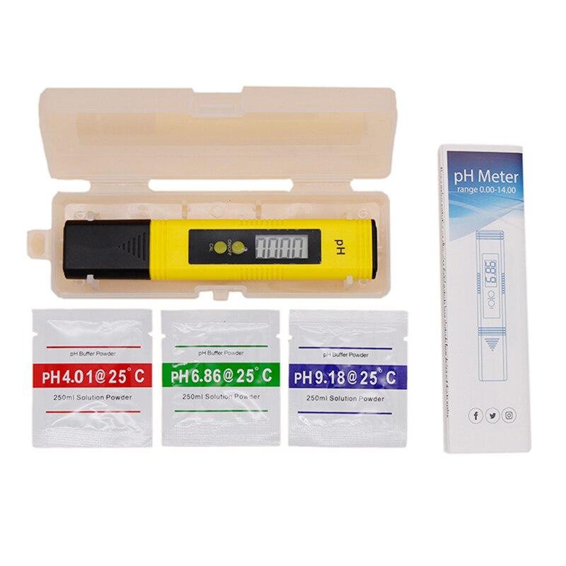 Ручка стиль цифровой lcd рН метр 0-14 точность 0,1 аквариум бассейн вода Homebrew пиво Вино моча автоматическая калибровка