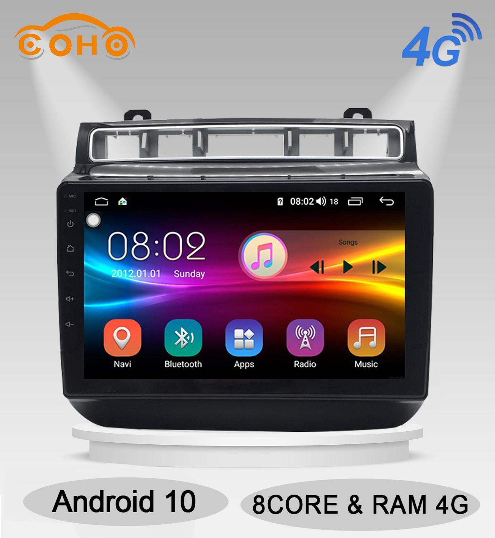 Reproductor Multimedia para coche Android 10,0 4 + 64G con pantalla táctil, Radio para VW/Volkswagen Touareg 2015-2017