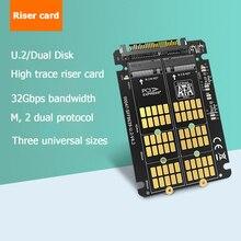 Адаптер MAIWO KT047 M.2 SSD в U.2, плата модуля преобразователя NVMe SATA в PCI e U.2 для настольного ПК