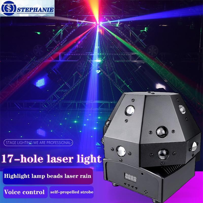 80 واط المهنية DJ ديسكو كرات إضاءة LED شعاع الليزر ستروب تتحرك رئيس ضوء DMX DJ تحكم الحفلات تظهر المرحلة الإضاءة