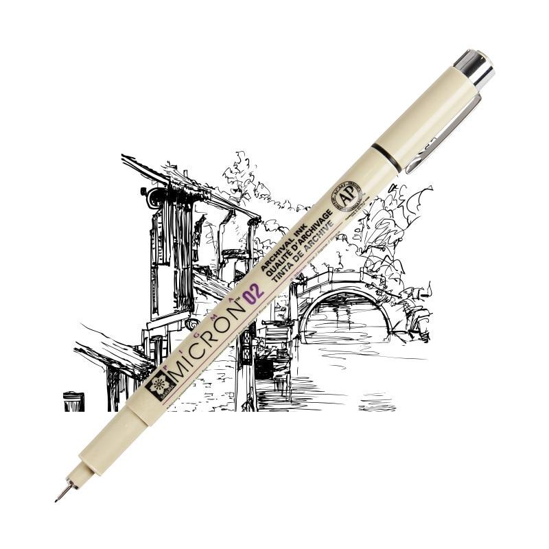 Sakura Pigma Micron Needle Pen XSDK Black color Marker Brush Liner for Sketch Drawing Design Manga Comic Anime Art supplies F922