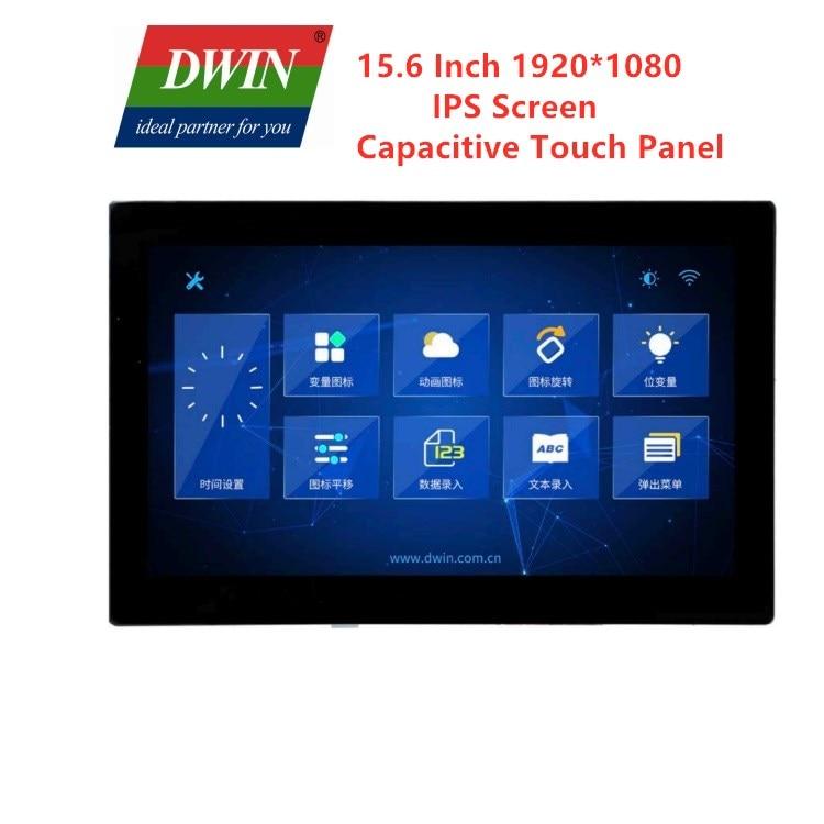 Painel de Toque Dwin Polegada Uart Hmi Inteligente Lcm Tft Display 1920*1080 Capacitivo Touh Tela Dgus Plc Arduinno 15.6 Lcd