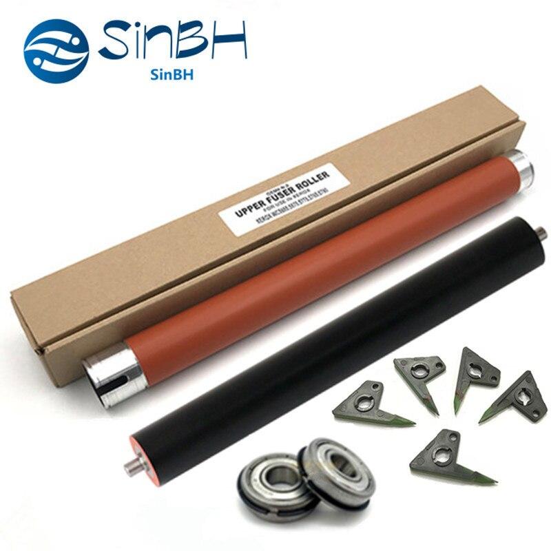 1 conjunto x superior picker dedo rolo de calor + rolamento pressão rolo para xerox workcentre 5865 5875 5890 5765 5775 5790 5665 5675 5687