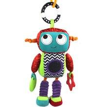 Bébé en peluche Mobile Musical hochet jouets Android Robot bébé suspendus jouets pour nouveau-né 0-12 mois début jouets éducatifs poupée