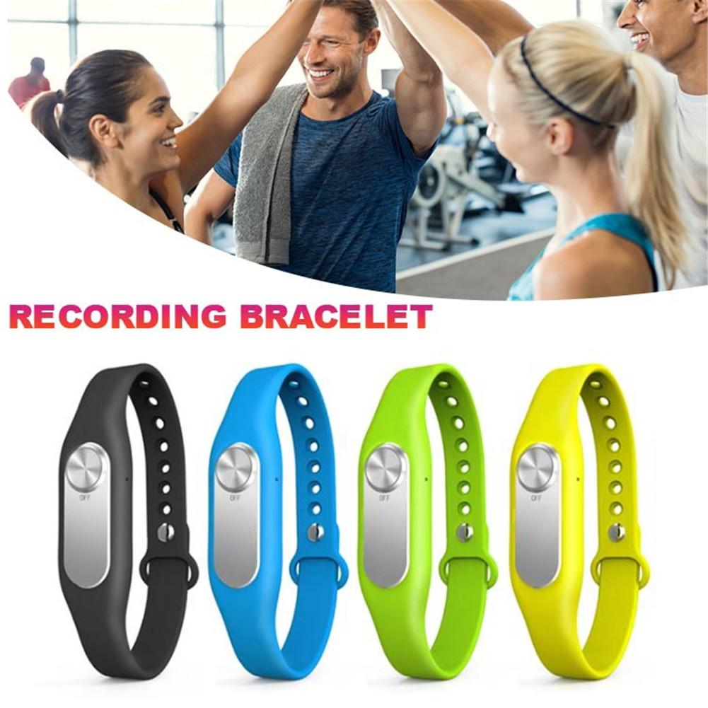 Portable Audio Recorder Wearable Wristband Digital Sports Bracelet 8GB 140-hour Recording Recording Pen for Interview Conference
