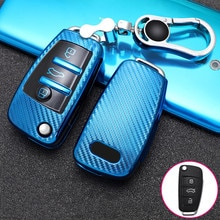 Auto Car Styling Soft TPU Key Case For Audi A1 A3 A4 A5 Q7 A6 C5 C6 A5 Q5 8V Car Holder Shell Remote Cover Car-Styling keychain