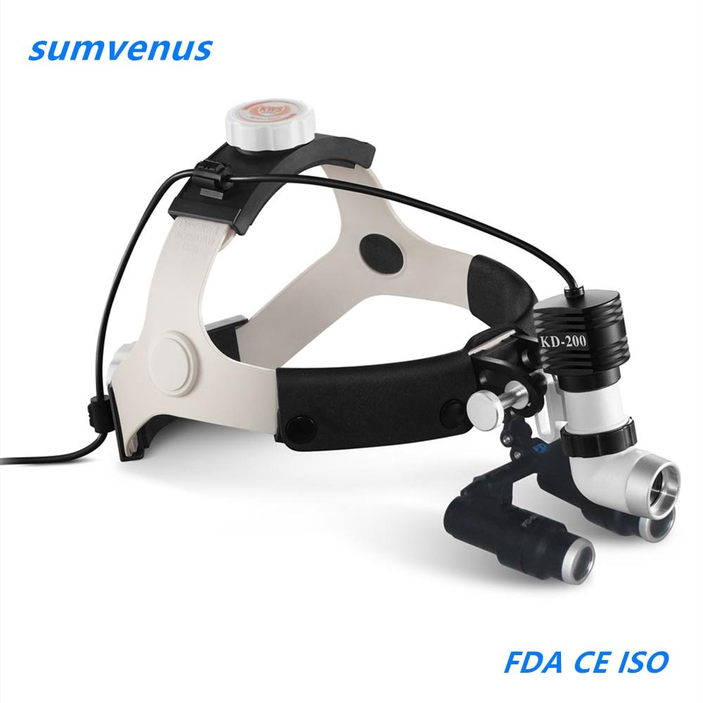 Surgical Medical Operation head lamp light 4.0X magnifier Dental Medical LED High Brightness Headlamp Binocular Loupe ENT