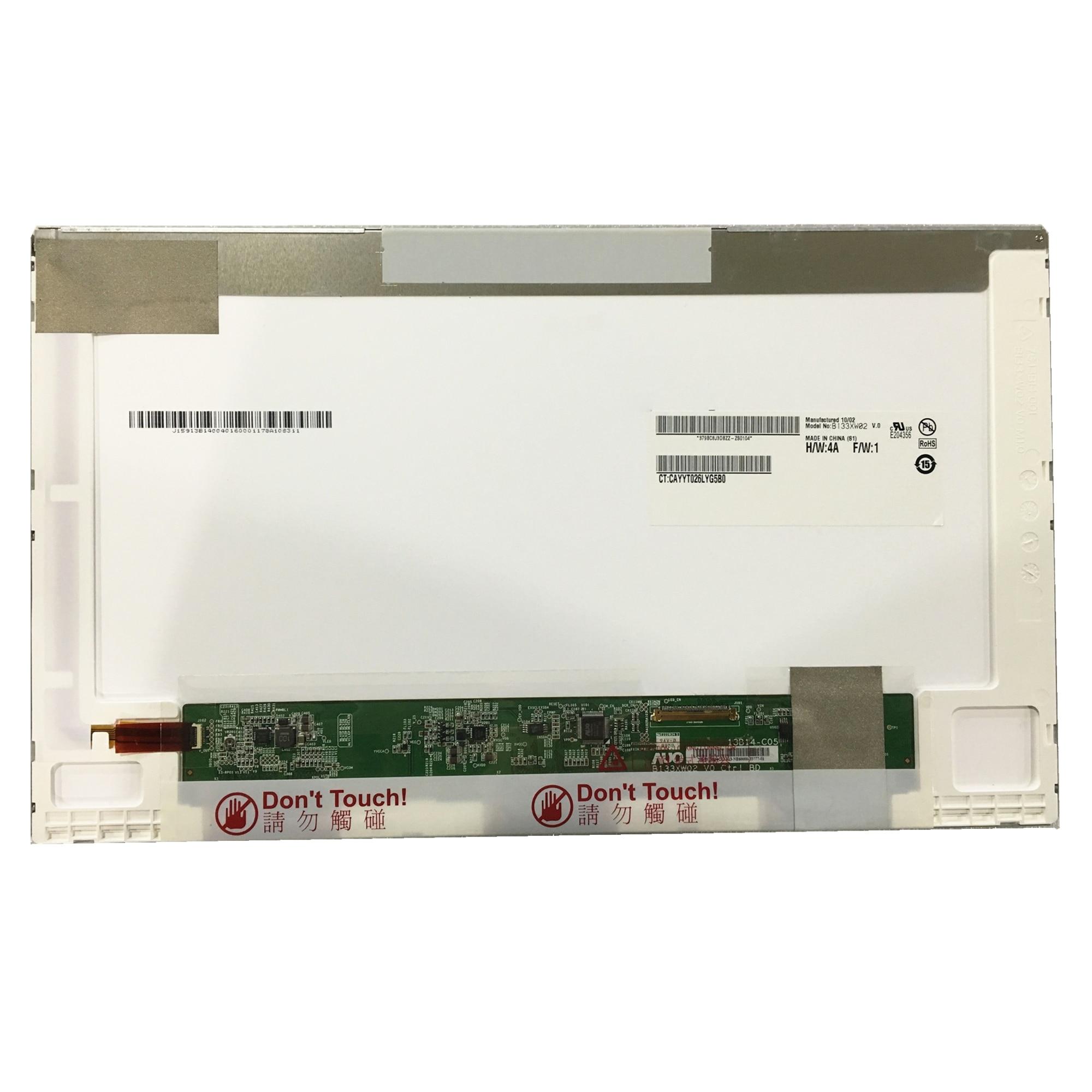 شحن مجاني B133XW02 V.0 V.2 B133XW02 V0 LP133WH1-TLD2 N133B6-L02 ل HP CQ32 CQ35 CQ36 CQ325 لينوفو Z360 G360 LCD شاشة