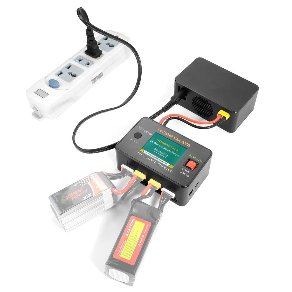 HOBBYMATE 600W 15A HOTA P6 Dual Channel Balance Charger T240W Power Supply Smart Balance Charge for Lithium Battery enlarge