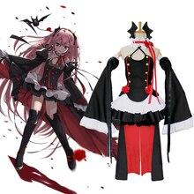 Séraphin de la fin Krul Tepes Anime Cosplay Costumes Lolita robe Vampire uniformes 6 pièces ensemble pour Halloween carnaval