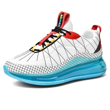 Men's Sports Training Sneakers Air Cushion Mesh Tennis Sports Shoes Outdoor Running Shoes Non-slip W