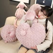 Appease Pink sheep Stuffed animal pillow sheep Plush floor mat Toys sheep Plush Sofa Cushion appease Sleeping Pillow Gift