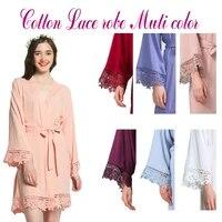 text custom cotton kimono wedding bride bridesmaid robes w lace trim wedding bridal robes short belt bathrobe sleepwear