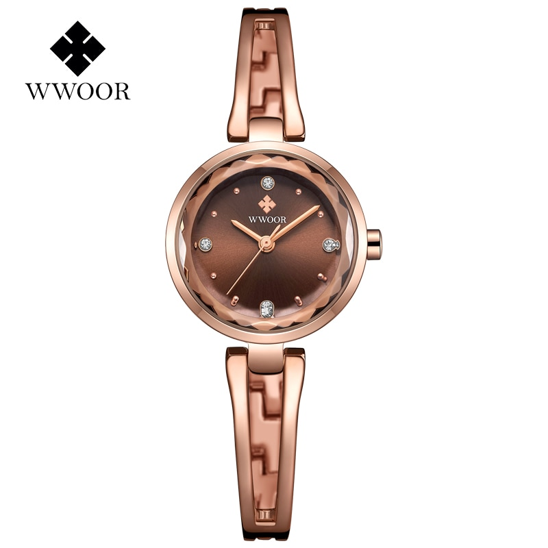 WWOOR Top Brand Luxury Ladies Wrist Watch Fashion Elegant Women Bracelet Watch Rhinestones Quartz Small Dial Watch For Women New enlarge