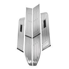 Couvercle de pédale en acier inoxydable   Adapté aux Toyota tupperils de pédale Prado accessoires de protection pour seuil de pédale latéral