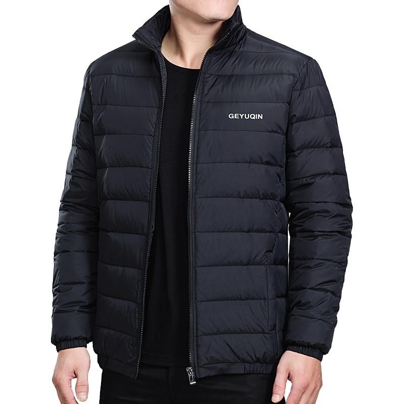 Quentes e Leves com Gola Cabolsa de Inverno para Homens Jaquetas Masculinas Alta Qualidade
