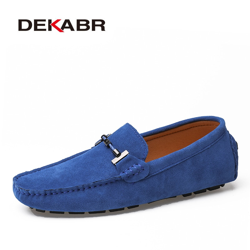 DEKABR Handmade Men Loafers Luxury Genuine Leather Casual Shoes Comfortable Soft Driving Shoes Warm