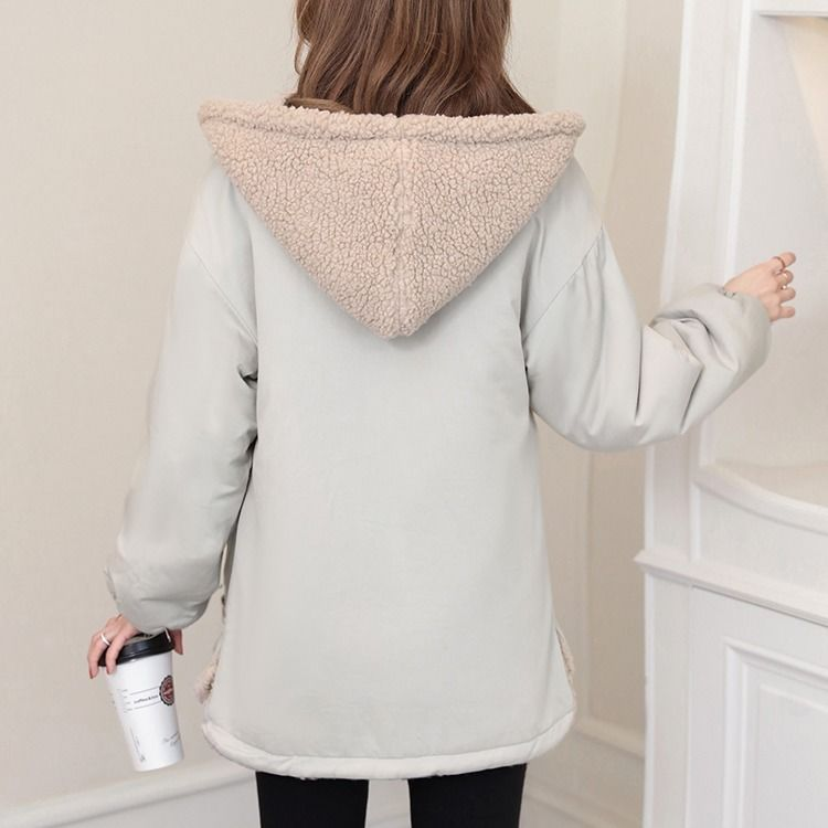 Maternity Winter Coat Long-sleeved Maternity Kangaroo Coats Pregnant Loose Fashion Plus Velvet Baby Carrier Hooded Jacket M-3XL enlarge