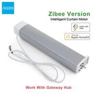 Aqara     moteur de rideau intelligent Zigbee WiFi  controleur de piste passerelle Hub necessite une telecommande automatique  fonctionne pour Mi Home Apple Homekit