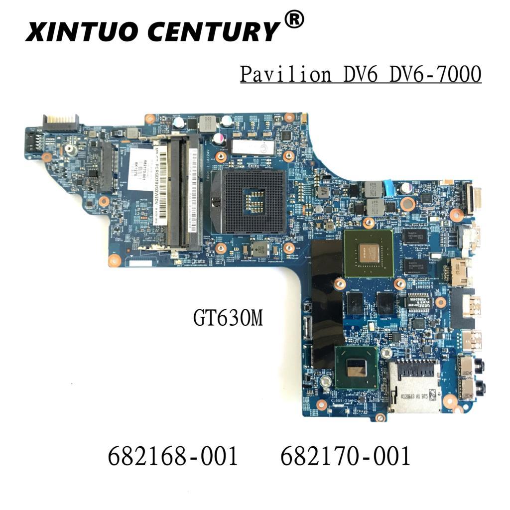 682168-001 682170-001 placa base para portátil HP Pavilion DV6T DV6 DV6-7000 placa...