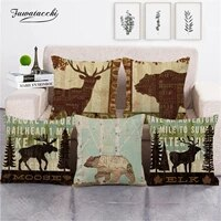 fuwatacchi home decor cushion cover animal silhouette pillowcase for chair sofa lettern pillow cover bedroom decoration 45x45cm