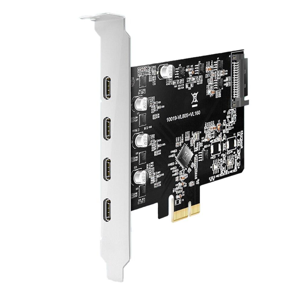 KC019 PCI-E إلى Type-C USB 3.1 بطاقة التوسع 5Gbps عالية السرعة نقل بطاقة نقل مع PCI Express X4/X8/X16