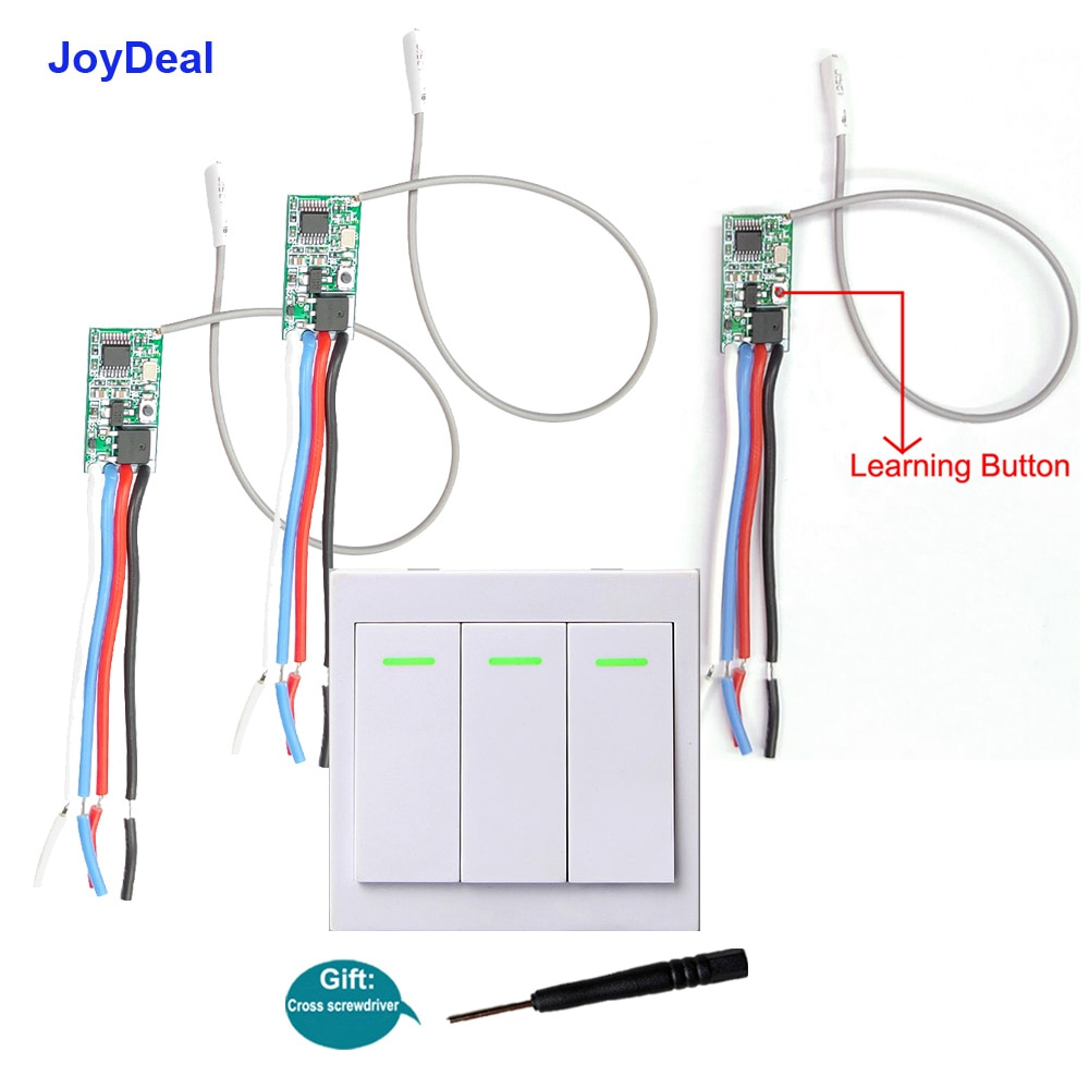 JoyDeal 433Mhz Wireless Micro Remote Control Switch Mini Receiver 3.6V 5V 12V 24V Long Range Small Led Light Switch Transmitter