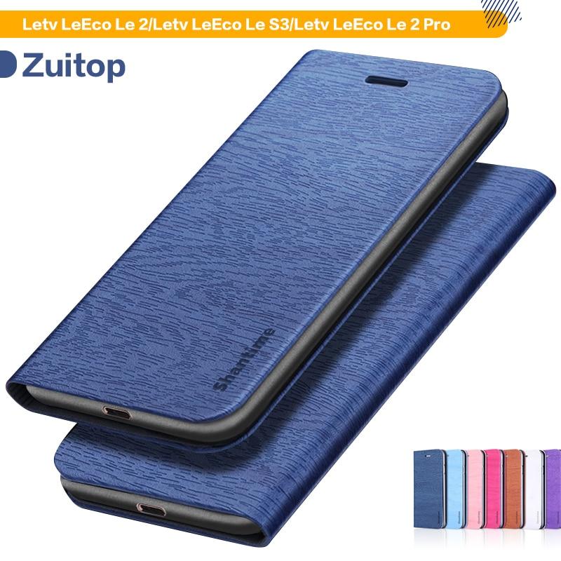 Wood grain PU Leather Case For Letv LeEco Le 2 Case For Letv LeEco Le S3 LeEco Le 2 Pro Business Case Soft Silicone Back Cover