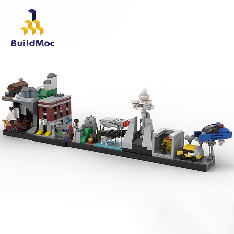 Buildmoc, City Street View creator, expert Friends Cults of the 80s, Retro Nostalgia, Juguetes de bloques de construcción para niños, regalos, 563 Uds