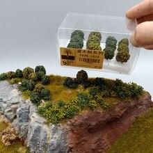 12 pièces Simulation arbre de brousse scène modèle pour 1:35/1:48/1: 72/1: 87 échelle sable Table arbre Miniatures paysage Miniature décor