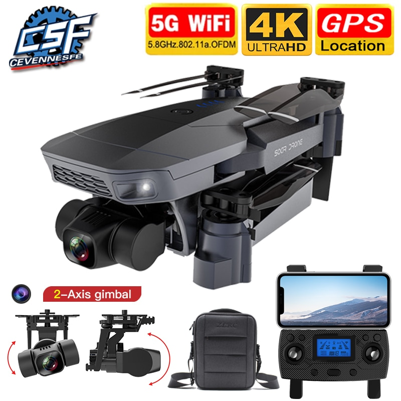 2020 NEW SG907 Pro Drone Quadcopter GPS 5G WIFI 4k HD Mechanical 2-Axis Gimbal Camera Supports TF Ca