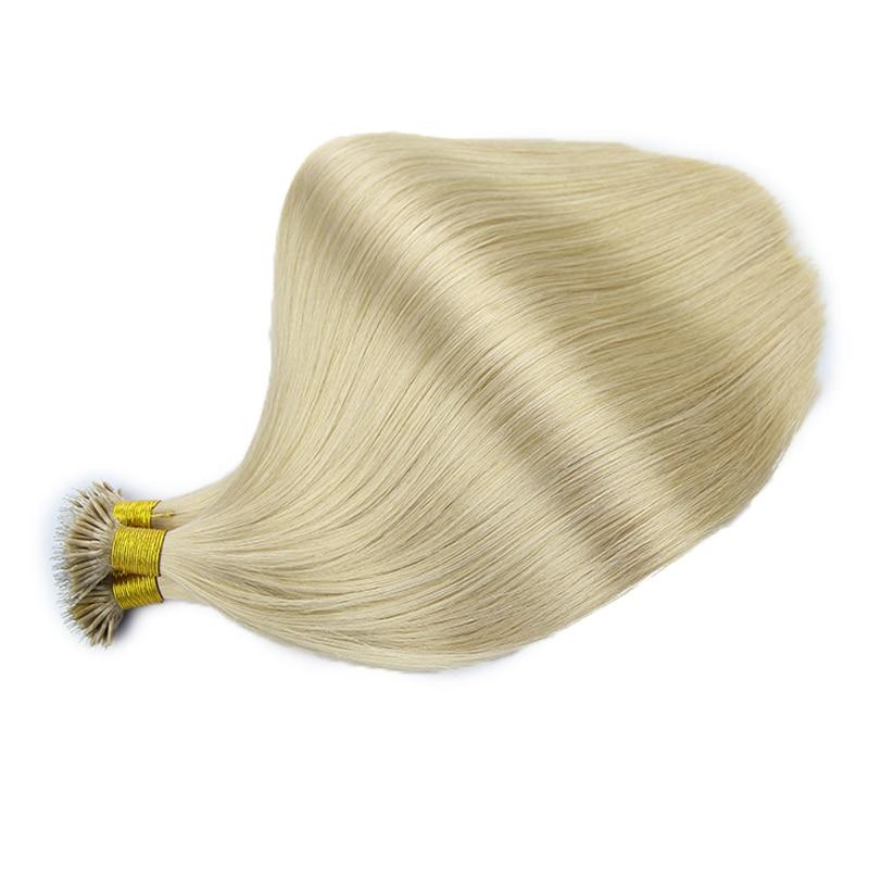 Toysww Virgin Hair Nano Ring Human Hair Extensions 10A Grade High Quality Russian Double Drawn Nano Beads Hair