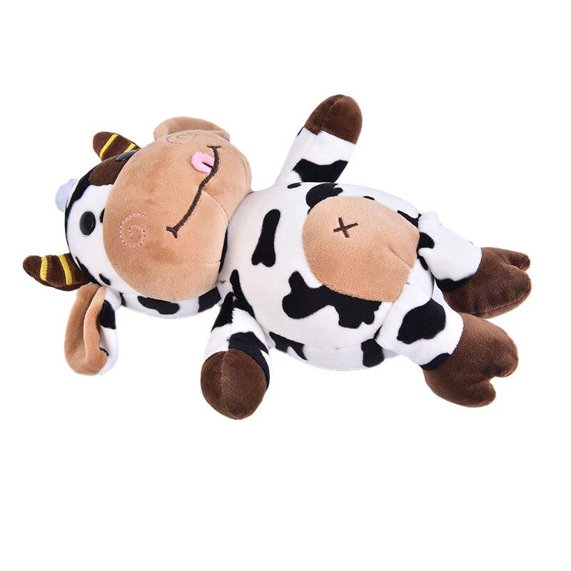 new 25 35 50cm kawaii sitting milk cow plush toys lifelike stuffed animal doll cute cattle toys for children kids christmas gift 30cm 2021 New Plush Cow Toy Cute Cattle Plush Stuffed Animals Cattle Soft Doll Kids Toys Birthday Gift For Children