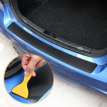 Carbon Fiber Auto Stamm Hinten Stoßstange Aufkleber für Dacia Lodgy 2 Mcv Sandero Duster Logan Sandero Motor