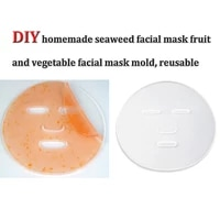 hot sale reuseable facial mask plate for fruit vegetable mask machine maker mask mold tray clear silicone mask making diy tool