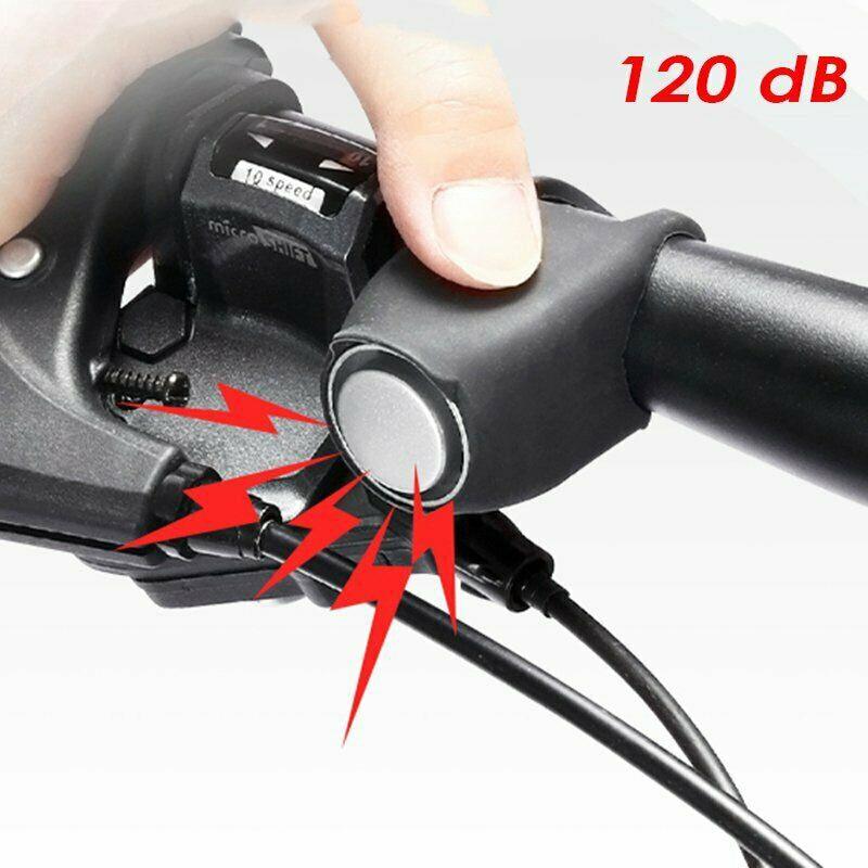 Bicicleta Eléctrica campana negro silicona ajustable Fácil instalación bicicleta eléctrica bocina alarma altavoz bicicleta eléctrica accesorio de sonido