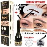 1 set of 4d eyebrow extender eyebrow dyeing cream natural fiber extension gel waterproof eyebrow makeup tool with eyebrow brush
